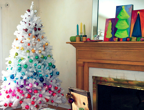 colorful christmas tree 3