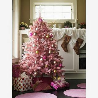pink christmas tree 1