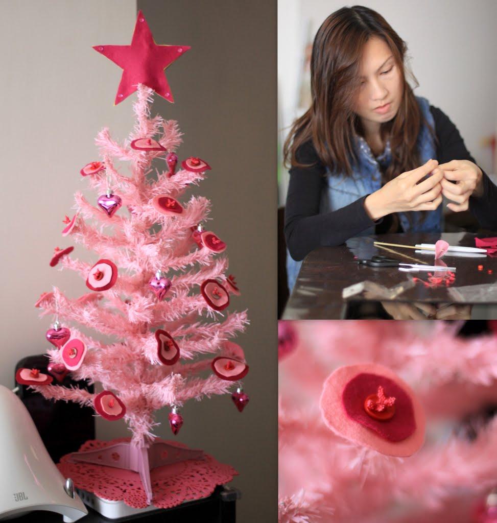 pink christmas tree 4