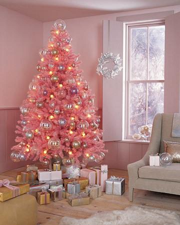 pink christmas tree 5
