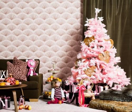 pink christmas tree 6