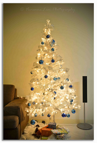white christmas tree 3