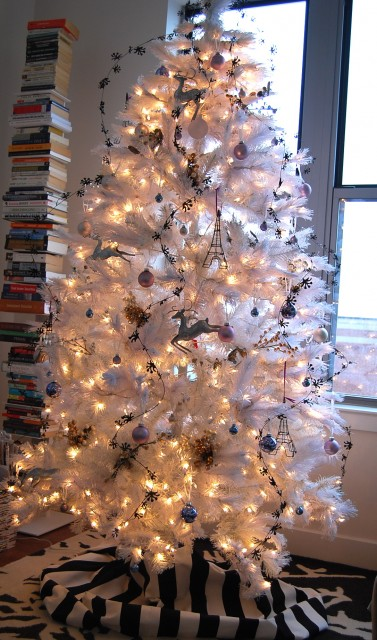 white christmas tree 4