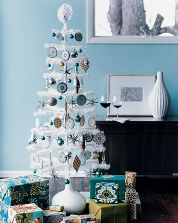 white christmas tree 6